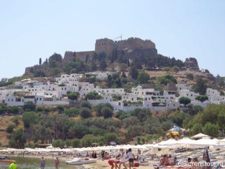 Пляж Линдос  Родос - крепость