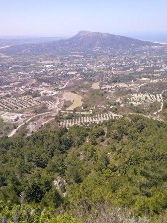 Гора Филеримос - вид с горы о. Родос
