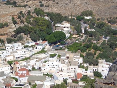 Городок Линдос на Родосе