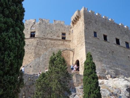 Крепость - акрополь Линдоса на Родосе