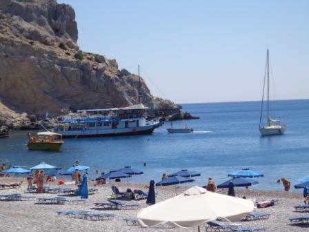 Пляж Афанду Родос в Греции