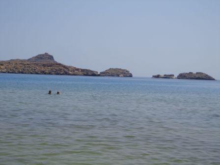 Пляж Линдос в Греции на острове Родос